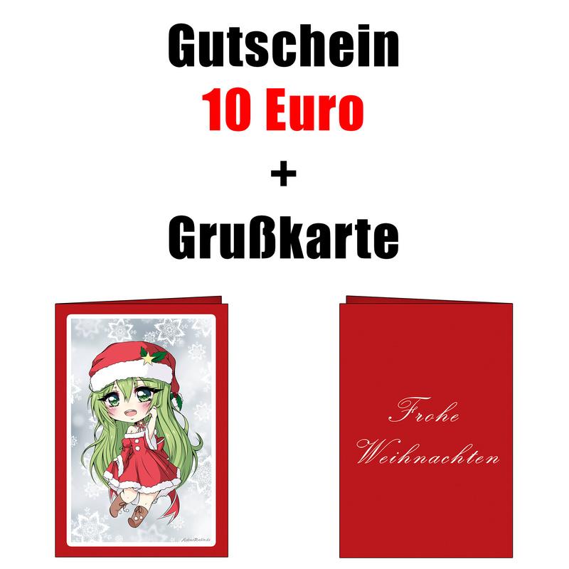 AnimeFanShop.de - Gutschein - 10 Euro - mit Anime Weihnachtsgrußkarte